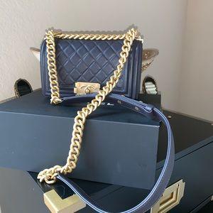 CHANEL Bags - Dark Gray Chanel Le Boy bag, Brand new in box